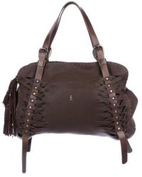 Lyst - Henry Beguelin Distressed Leather Bag Brown in Metallic 842442066fde9