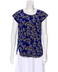 144f3a0e1d7d6 Diane von Furstenberg - America Two Silk Top - Lyst