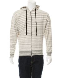 Timo Weiland - Theo Zip-front Hoodie W/ Tags Grey - Lyst