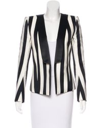 Balmain - Shawl-lapel Striped Blazer - Lyst
