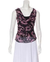 70f495f5cae61 Lyst - Diane Von Furstenberg Seti Silk Top in Pink