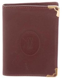 Cartier - Leather Card Case Gold - Lyst
