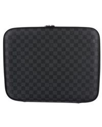 Louis Vuitton - Damier Graphite Laptop Case Black - Lyst
