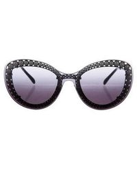 0619941a108 Chanel - 2018 Faux-pearl Butterfly Sunglasses - Lyst