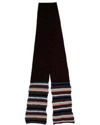 M Missoni - Woven Patterned Knit Scarf Plum - Lyst