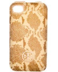 Tory Burch - Printed Iphone 4 Case Tan - Lyst