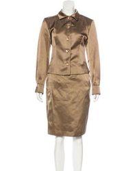 Carolina Herrera - Silk Skirt Suit - Lyst