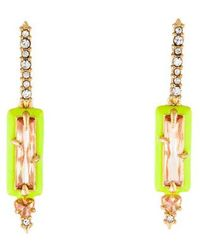 Alexis Bittar - Enamel Framed Crystal Drop Earrings Gold - Lyst