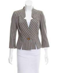 Vivienne Westwood Red Label - Striped Wool Blazer Grey - Lyst