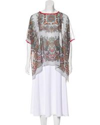 Clover Canyon - Printed Sheer Top Multicolor - Lyst