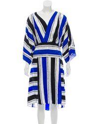 Warm - Ss1891b Sketch Silk Dress W/ Tags - Lyst