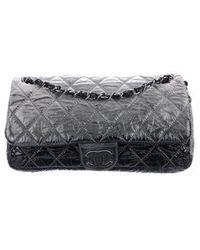 0b58b75d5af2 Lyst - Chanel Small On The Bund Flap Bag Black in Metallic