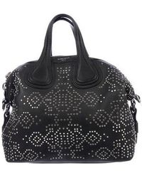 Givenchy - Studded Small Nightingale Satchel Black - Lyst