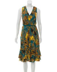 Carolina Herrera - Sleeveless Printed Dress - Lyst