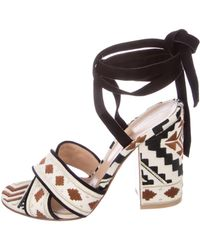 outlet really outlet release dates Gianvito Rossi Embroidered Crossover Sandals 70CFVi