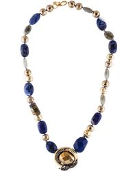 Alexis Bittar - Imperial Noir Sodalite, Labradorite & Crystal Beaded Necklace Gold - Lyst