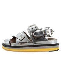 Maison Margiela - Flatform Sandals W/ Tags Silver - Lyst