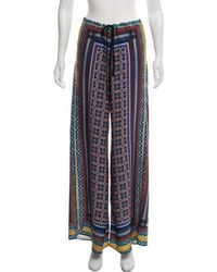 Clover Canyon - Printed Wide-leg Pants Navy - Lyst