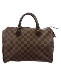 Louis Vuitton - Damier Ebene Speedy 30 - Lyst