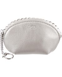 UGG - Leather Coin Pouch Silver - Lyst