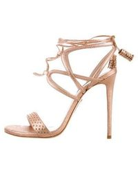 Ruthie Davis - Willow Lace-up Sandals W/ Tags Rose - Lyst