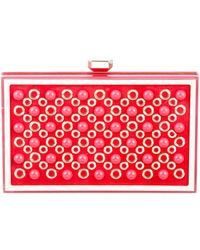 Elie Saab - Embellished Box Clutch Pink - Lyst