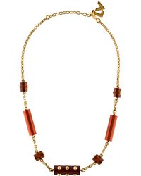 Louis Vuitton - Circus Necklace Gold - Lyst