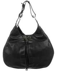 Sergio Rossi - Smooth Leather Hobo Black - Lyst