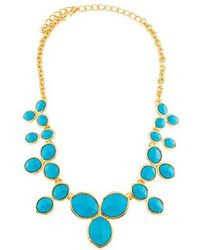 Kenneth Jay Lane - Resin Collar Necklace Gold - Lyst