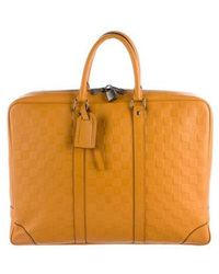Louis Vuitton - Damier Infini Porte-documents Jour Orange - Lyst