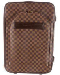Louis Vuitton - Damier Ebene Pegase 55 Brown - Lyst