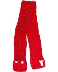 MICHAEL Michael Kors - Michael Kors Knit Pocket Scarf W/ Tags Red - Lyst