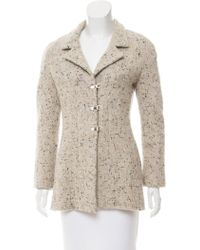 Chanel - -accented Wool Jacket Wool - Lyst