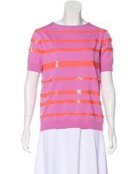 Louis Vuitton - Sequined Short Sleeve Top - Lyst