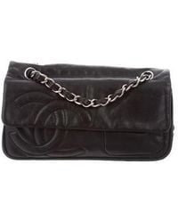 Chanel - Calfskin Cc Pochette Black - Lyst