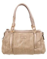 458aaa278a3 Lyst - Tod'S Leather-trimmed Suede Tote Black in Metallic