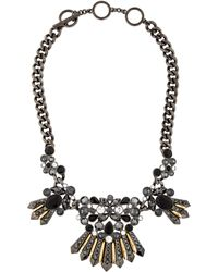 Givenchy - Embellished Collar Necklace Gold - Lyst