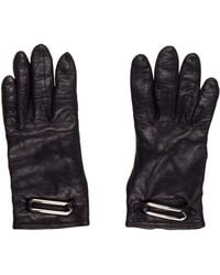 CALVIN KLEIN 205W39NYC - Leather Embellished Gloves Black - Lyst