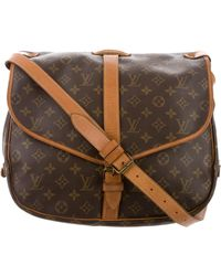 Louis Vuitton - Vintage Monogram Saumur 35 Brown - Lyst