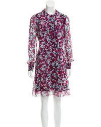 Diane von Furstenberg - Silk Arabella Dress Navy - Lyst
