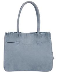 93c457c6724a Lyst - Ferragamo Patent Leather Tote Silver in Metallic