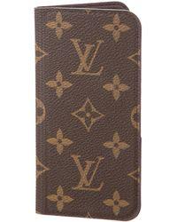Louis Vuitton - Monogram Iphone 6 Folio Case Brown - Lyst