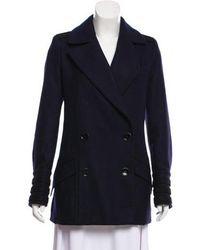 Maiyet - Short Wool Coat Navy - Lyst