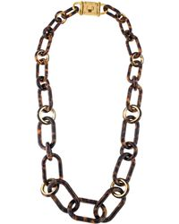 Michael Kors - Resin Link Necklace Gold - Lyst