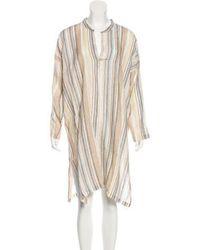 Eskandar - Linen Striped Tunic Tan - Lyst