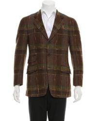 Etro - Plaid Wool Blazer Brown - Lyst