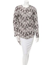 Thomas Wylde - Silk Printed Button-up Top W/ Tags - Lyst
