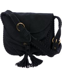 Vanessa Bruno - Suede Crossbody Bag Black - Lyst