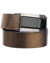 Just Cavalli - Embossed Wrap Belt Gold - Lyst