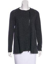 Brunello Cucinelli - Cashmere Monili-trimmed Jacket Grey - Lyst